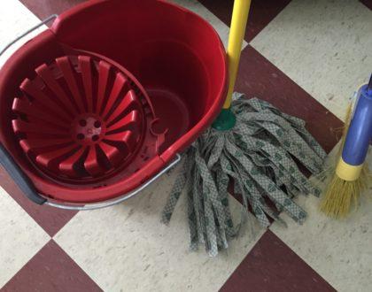 A Bucket, A Broom, and A Mop?